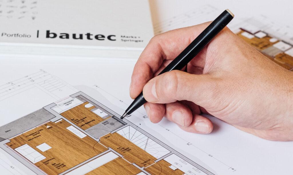 Foto Bearbeitung Bauplan